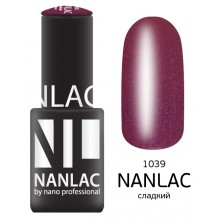 nano professional NANLAC - Гель-лак Мерцающая эмаль NL 1039 сладкий 6мл