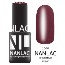 nano professional NANLAC - Гель-лак Мерцающая эмаль NL 1040 вишневый пирог 6мл