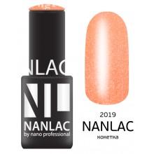 nano professional NANLAC - Гель-лак Мерцающая эмаль NL 2019 кокетка 6мл