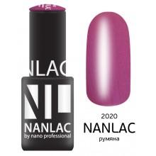 nano professional NANLAC - Гель-лак Мерцающая эмаль NL 2020 румяна 6мл