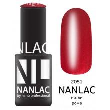 nano professional NANLAC - Гель-лак Мерцающая эмаль NL 2051 нотки рома 6мл