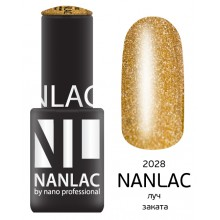 nano professional NANLAC - Гель-лак Металлик NL 2028 луч заката 6мл