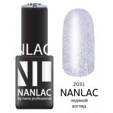 nano professional NANLAC - Гель-лак Металлик NL 2031 ледяной взгляд 6мл