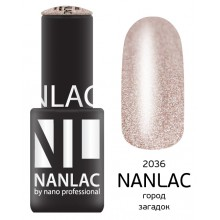 nano professional NANLAC - Гель-лак Металлик NL 2036 город загадок 6мл