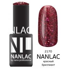 nano professional NANLAC - Гель-лак Металлик NL 2170 красный бриллиант 6мл