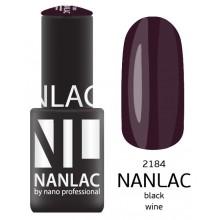 nano professional NANLAC - Гель-лак NL 2184 Black Wine 6мл