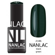 nano professional NANLAC - Гель-лак NL 2186 Black Green 6мл