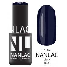 nano professional NANLAC - Гель-лак NL 2187 Black Blue 6мл
