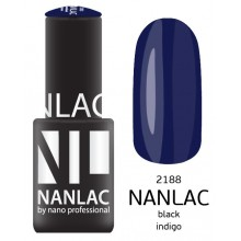 nano professional NANLAC - Гель-лак NL 2188 Black Indigo 6мл