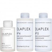 "OLAPLEX No.3 + No.4 + No.5 Bond Maintenance KIT - Набор ""Система защиты волос"" эликсир + шампунь + кондиционер 100 + 250 + 250мл"