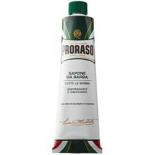Proraso Green Refreshing Shaving Cream - Концентрированный Крем-мыло для бритья Защитный с алоэ и витамином Е 150мл