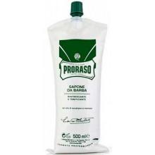 Proraso Green Shaving Cream - Концентрированный Крем-мыло для бритья Зелёный 500мл