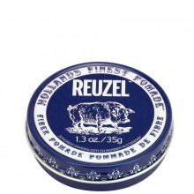 REUZEL Pomade de Fiber DARK-BLUE - Паста для укладки волос ТЁМНО-СИНЯЯ банка 35гр