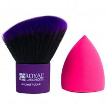 Royal & Langnickel MODA ANGLED KABUKI & MAGIC SPONGE - Угловая КАБУКИ и СПОНЖ для макияжа 2шт