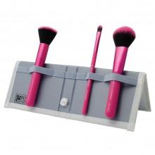 Royal & Langnickel MODA COMPLEXION PERFECTION SET PINK - Набор кистей для макияжа лица в чехле РОЗОВЫЙ 3шт