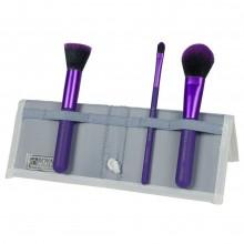 Royal & Langnickel MODA COMPLEXION PERFECTION SET PURPLE - Набор кистей для макияжа лица в чехле ФИОЛЕТОВЫЙ 3шт