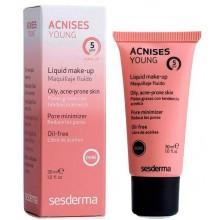 Sesderma ACNISES YOUNG Liquid make-up (dore) SPF 5 - Жидкий тональный крем с СЗФ5 (Тёмный тон) 30мл