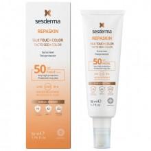 Sesderma REPASKIN SILK TOUCH COLOR Facial Sunscreen SPF50 - Солнцезащитное средство с тонирующим эффектом для лица СЗФ50, 50мл