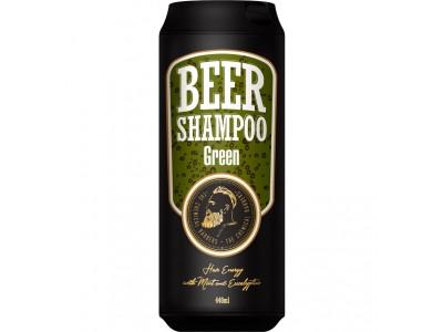 THE CHEMICAL BARBERS BEER SHAMPOO GREEN - Пивной шампунь с мятой и эвкалиптом 440мл