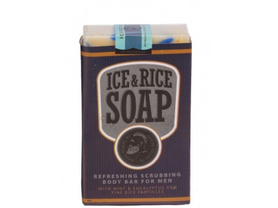 THE CHEMICAL BARBERS SOAP ICE & RICE - Освежающее мыло для тела со скраббом Лёд и Рис 100гр