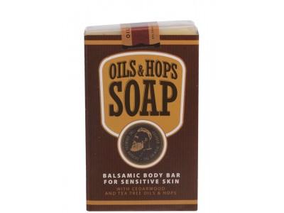 THE CHEMICAL BARBERS SOAP OILS & HOPS - Бальзамическое мыло для тела с маслами и хмелем Масло & Хмель 100гр