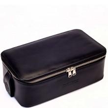 TRUEFITT & HILL LEATHER Regency Box Bag BLACK - Прямоугольная косметичка на молнии ЧЁРНАЯ 268 х 85мм