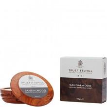 TRUEFITT & HILL Luxury Shaving Soap Sandalwood - Люкс-мыло для бритья (в деревянной чаше) 99гр
