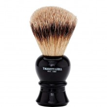 TRUEFITT & HILL SHAVING BRUSHES Regency EBONY - Кисть для бритья REGENCY (Ворс серебристого барсука) ЭБОНИТ с серебром 10см