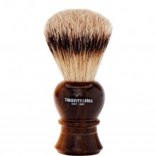 TRUEFITT & HILL SHAVING BRUSHES Regency HORN - Кисть для бритья REGENCY (Ворс серебристого барсука) РОГ с серебром 10см