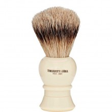 TRUEFITT & HILL SHAVING BRUSHES Regency IVORY - Кисть для бритья REGENCY (Ворс серебристого барсука) СЛОНОВАЯ КОСТЬ с серебром 10см