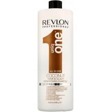 REVLON Professional Uniq One COCONUT HAIR & SCALP CONDITION SHAMPOO - Шампунь-кондиционер для волос и кожи головы с АРОМАТОМ КОКОСА 1000мл